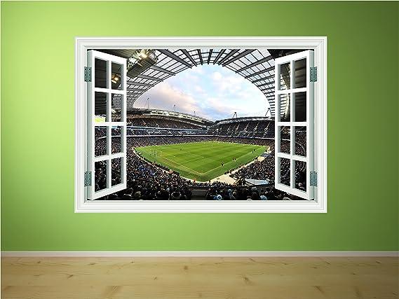 Red Parrot Graphics Manchester City FC Etihad Stadium Football Sticker Print Window Transfer P1K X Small 15cm x 10cm