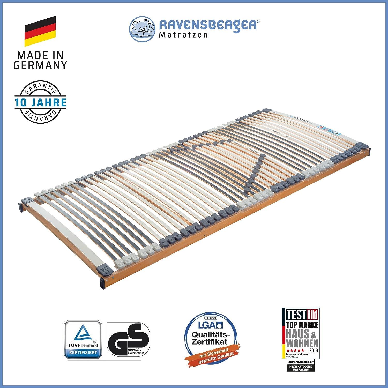 RAVENSBERGER MEDIMED® 44-Leisten 7-Zonen-BUCHE-Lattenrahmen   Starr   MADE IN GERMANY - 10 JAHRE GARANTIE   TÜV GS + LGA QS - zertifiziert - 140x200 cm