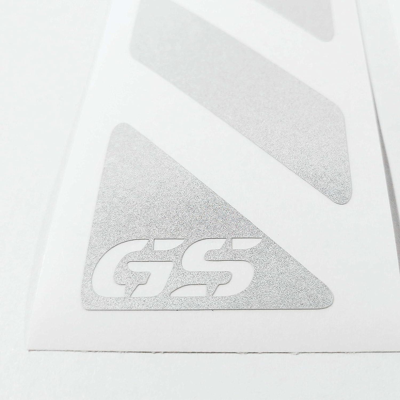 2pcs RIFRANGENTI ADESIVI con GS compatibile con VALIGIE LATERALI Touratech Motorcycle Aluminium Panniers Nastri F650 F700 F800 R1150 R1200 GS BMW MOTORRAD White