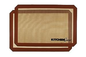 Kitchen Gear Silicone Baking Mats - set of 2 - non-stick