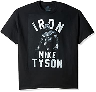 d46716ed Amazon.com: Boxing Hall of Fame Men's Iron Mike Tyson T-Shirt: Clothing