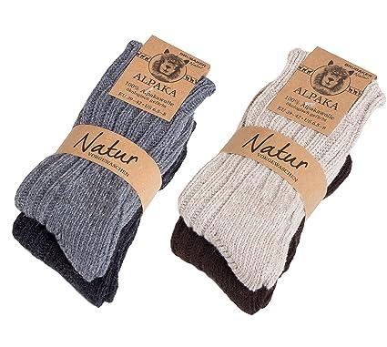 ampia selezione di design nessuna tassa di vendita trova il prezzo più basso Brubaker 4 paia calzini, caldi e morbidi, in lana Alpaca - donna - prodotto  ecologico e naturale