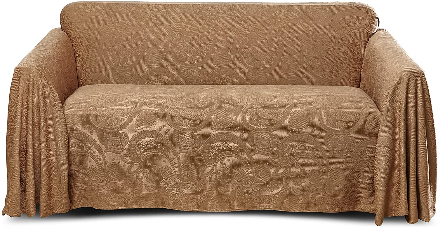 Stylemaster Alexandria Furniture Throw, Large Sofa, Mocha