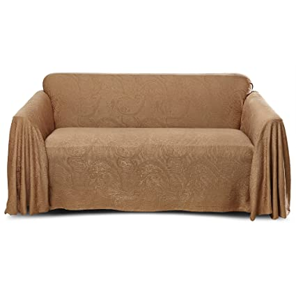 Stylemaster Alexandria Matelasse Large Sofa Furniture Throw, Mocha