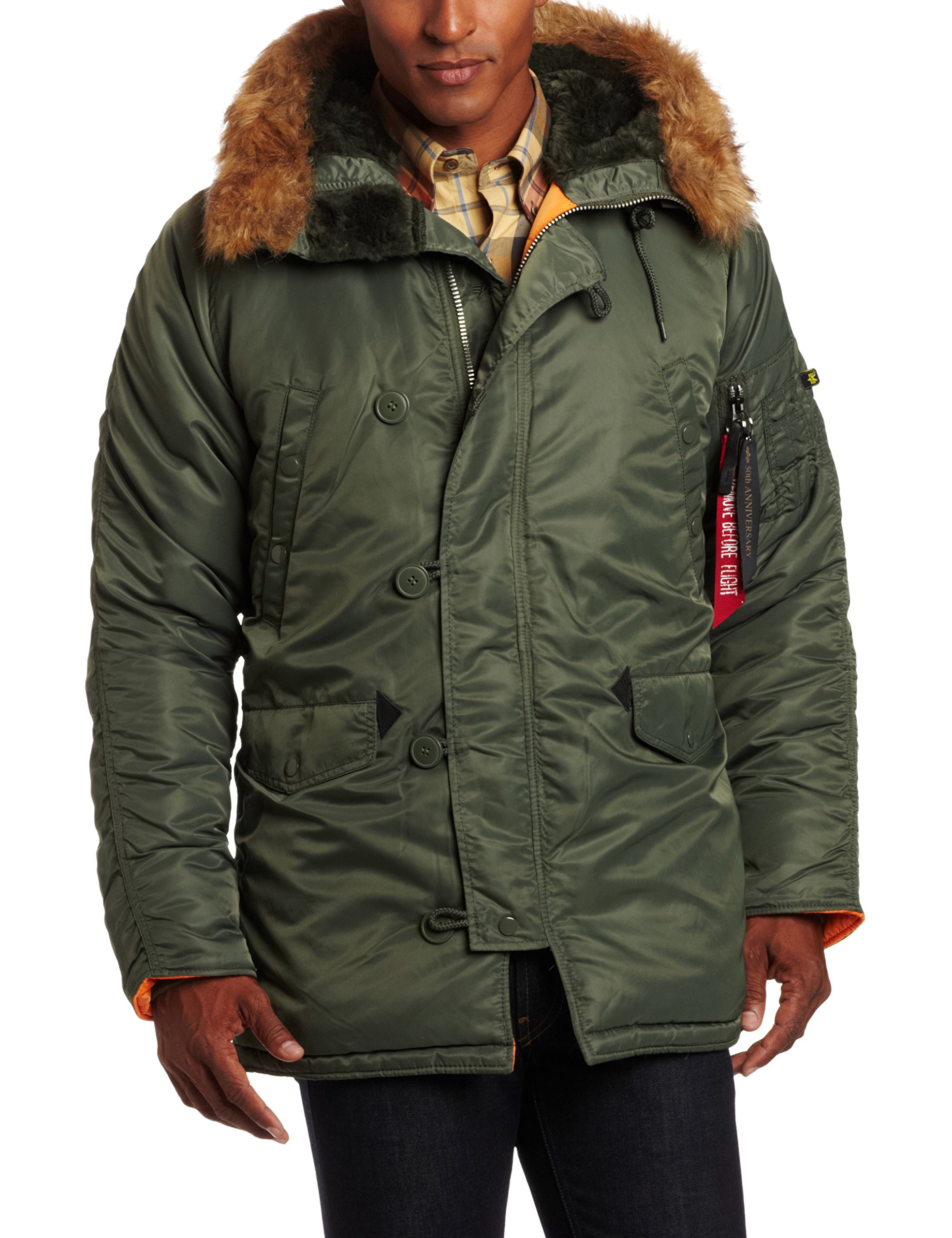 Galleon - Alpha Industries Men s N-3B Slim-Fit Parka Jacket With Removable  Faux-Fur Hood Trim 8f2c8d163f2