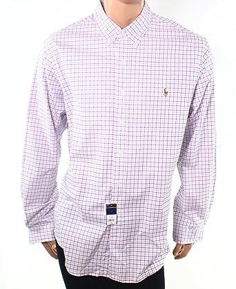 6cfcd5a7 Polo Ralph Lauren Men's Slim-Fit Plaid Stretch Oxford Button-down Shirt (2XL