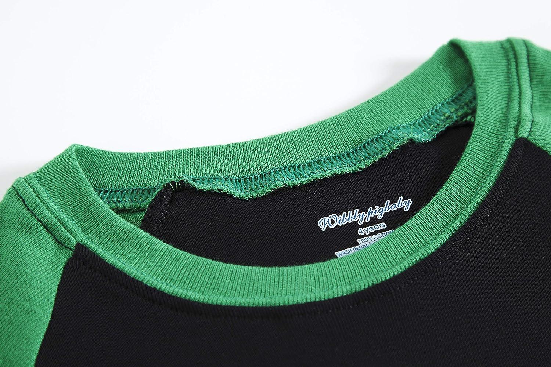 Popshion Abbigliamento Estivo per Bambini da 2 a 7 Anni Pigiama per Bambini con Dinosauro 100/% Cotone a Maniche Corte