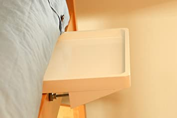 Amazon Com White Bedside Shelf Night Table For Single Bed Bunk Bed