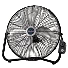 """Lasko 2264QM 20"""" High Velocity QuickMount, Black-Easily Converts From a Floor Wall Fan, 7 x 22 x 22 inches"""