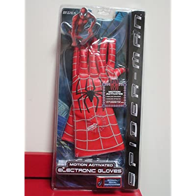 Spider Man Motion Activated Electronic Gloves: Toys & Games