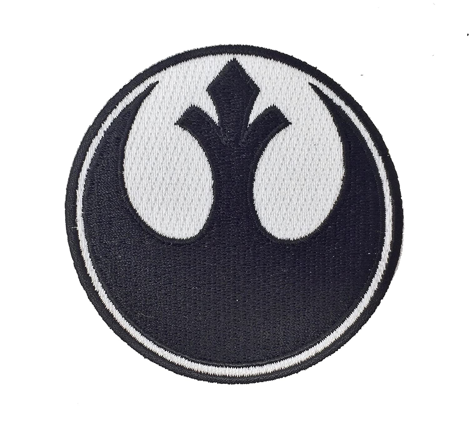 Super6props Star Wars Rebel Alliance Embroidered Iron on Patch Crew Uniform Patch for Cosplay, Costume and Fancy Dress 75mm x 75mm