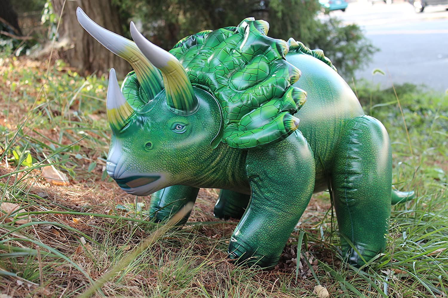 Dinosaur Lawn Decorations Amazoncom Inflatable Triceratops Toys Games