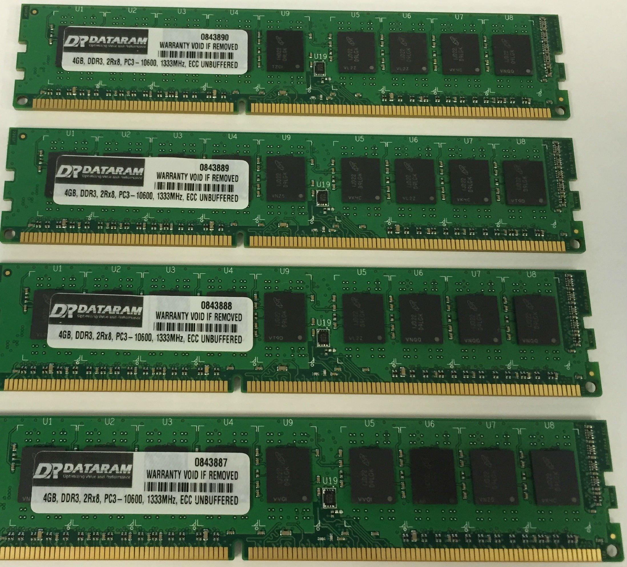 16GB KIT (4 X 4GB) Memoria para Fujitsu Celsius X5