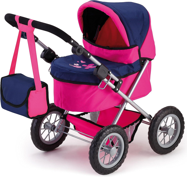 Bayer Design 13013AA Trendy - Cochecito de muñeca, color rosa y azul