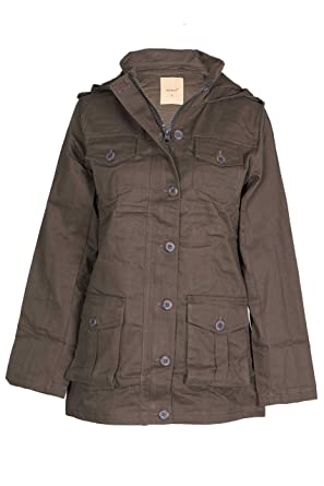 NOROZE Womens Hooded Military Style Summer Coat Jacket  Amazon.co.uk ... 2f78063db6