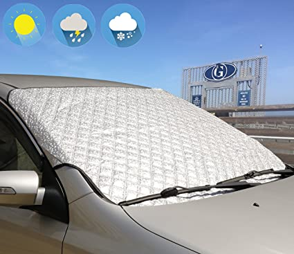 Car Front Windscreen Cover Heat Sun Shade Snow Frost Ice Shield Dust Protector Polyester Taffeta Snow Block 1 PCS