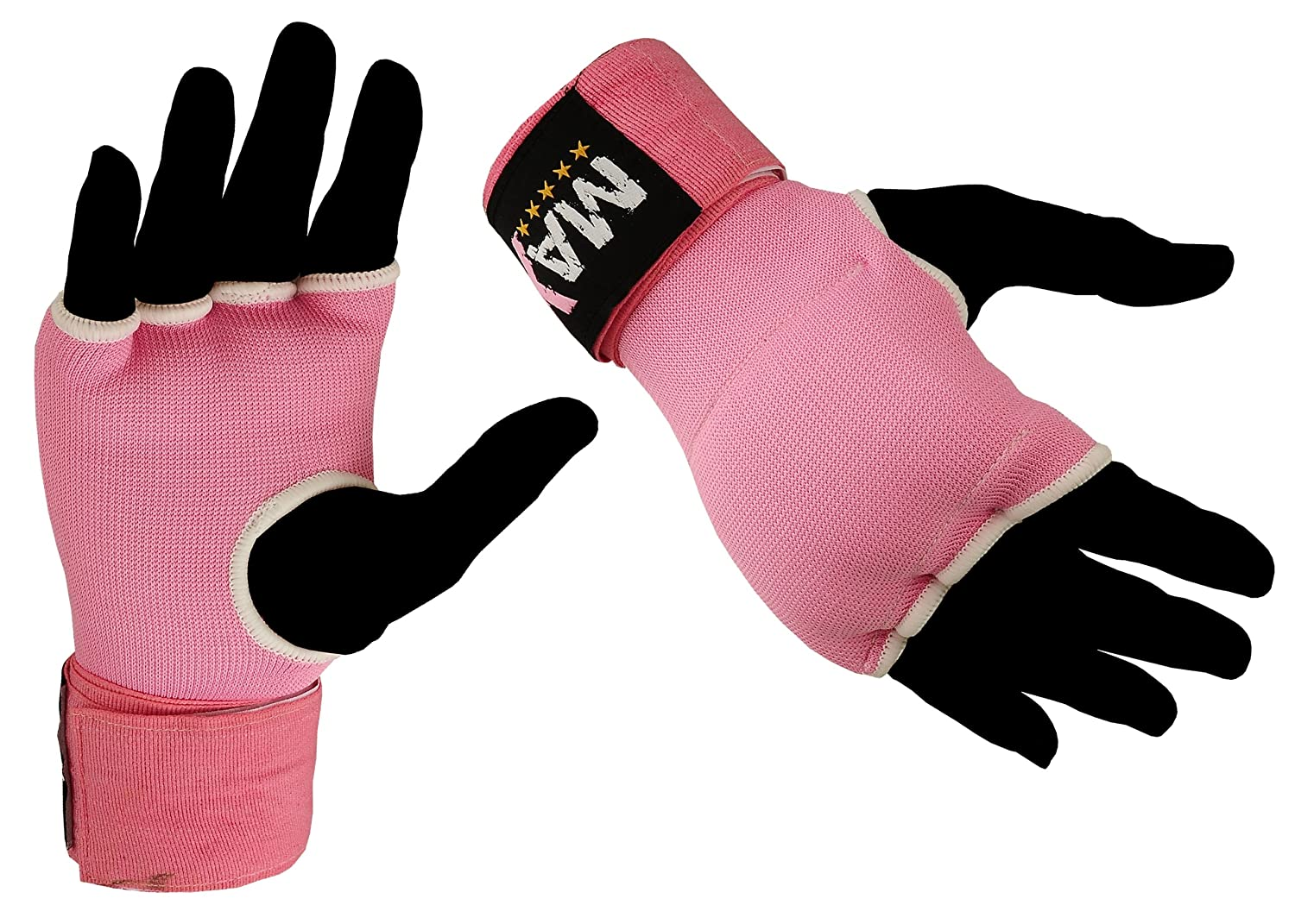 Hand Wrap Gloves Gel Padded Pink Inner Gloves Hand Wrap Boxing Bag Mma Ufc Carbon