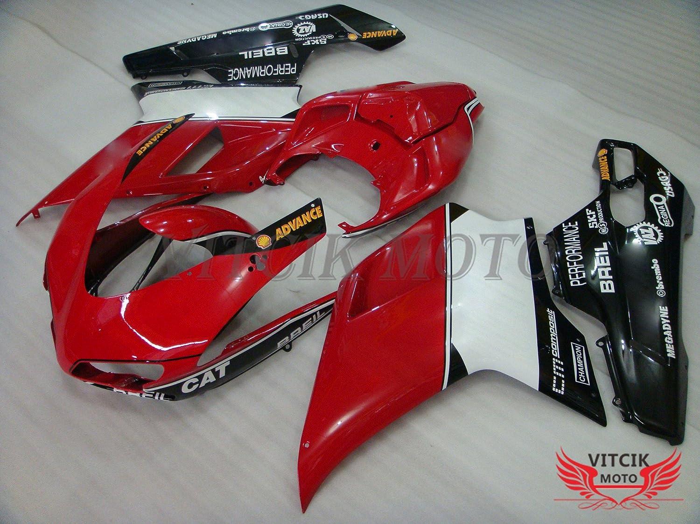 VITCIK (Kit de Carenado para DUCATI 1098 848 1198 2007 2008 2009 2010 2011 2012) Accesorios de repuesto para bastidor y carrocería con completo para ...