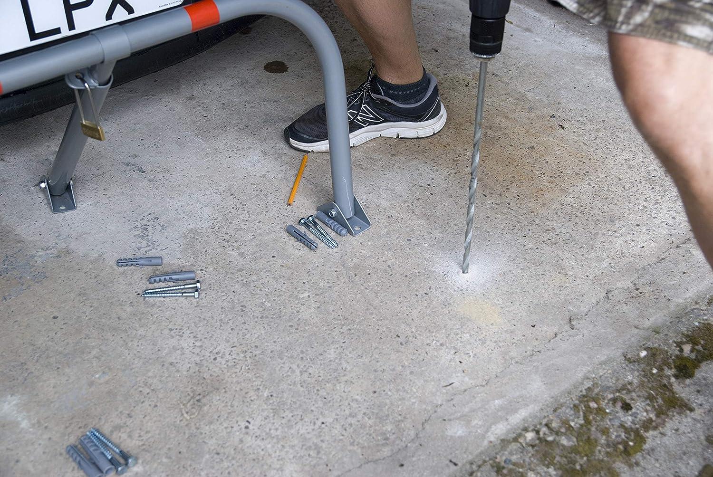 Speedwellstar Manual Parking Lock Folding Security Barrier Metal 70x42cm Space FREE Padlock Carpark