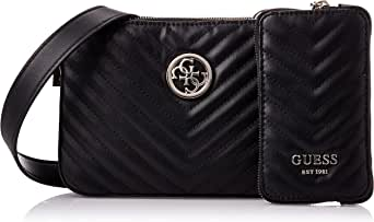 Guess Womens Cross-Body Handbag, Black - VG766314