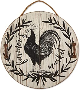 DII CAMZ11436 Farmhouse Framed Wall Art Sign, Rooster Farmer's Market