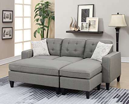 Prime Amazon Com Living Room Furniture Reversible Sectional Sofa Machost Co Dining Chair Design Ideas Machostcouk