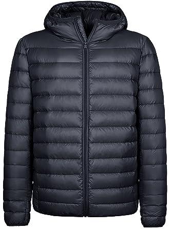 a76d3f29cb1c02 Wantdo Men's Waterproof Packable Down Puffer Jacket with Fixed Hood Dark  Grey, ...