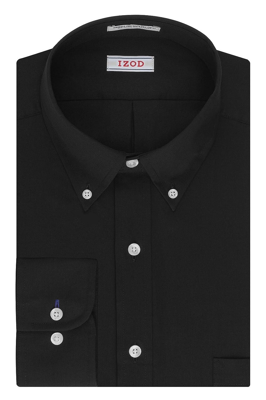 Izod Mens Dress Shirts Regular Fit Solid Twill Button Down Collar