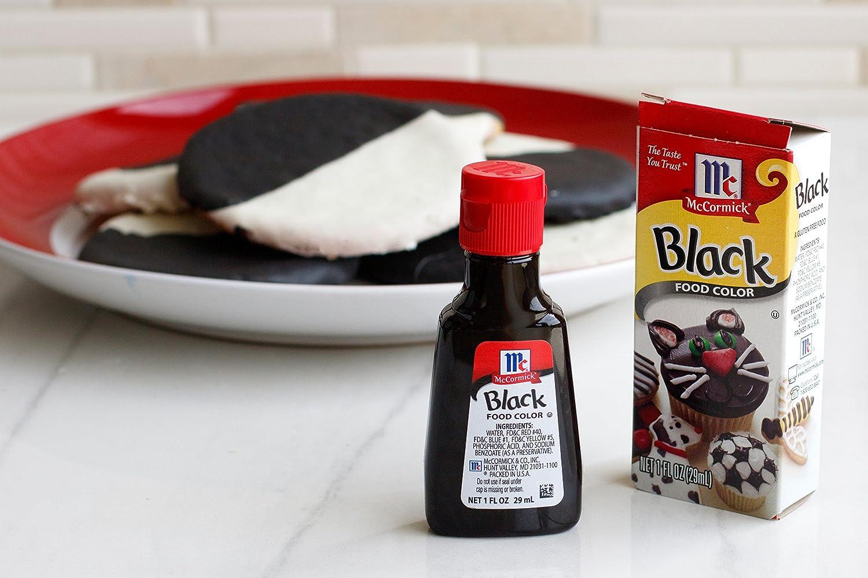 Amazon Com Mccormick Black Food Color 1 Fl Oz Food Coloring