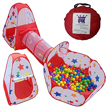 Ball Pit Kids Tent Pop up Playhouse with Crawl Tunnel | Toddler Toys with Basketball Hoop  sc 1 st  Amazon.com & Amazon.com: Ball Pit Kids Tent Pop up Playhouse with Crawl Tunnel ...