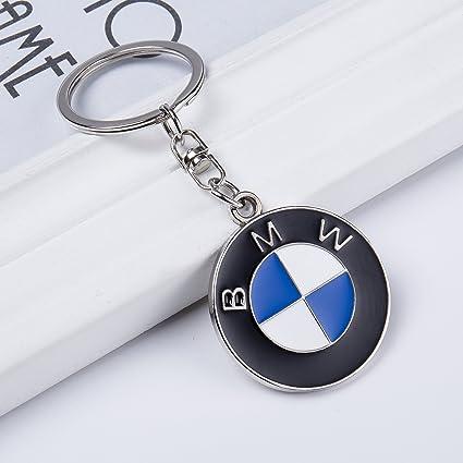 amazon com qzs bmw 3d chrome metal key chain car logo key ring