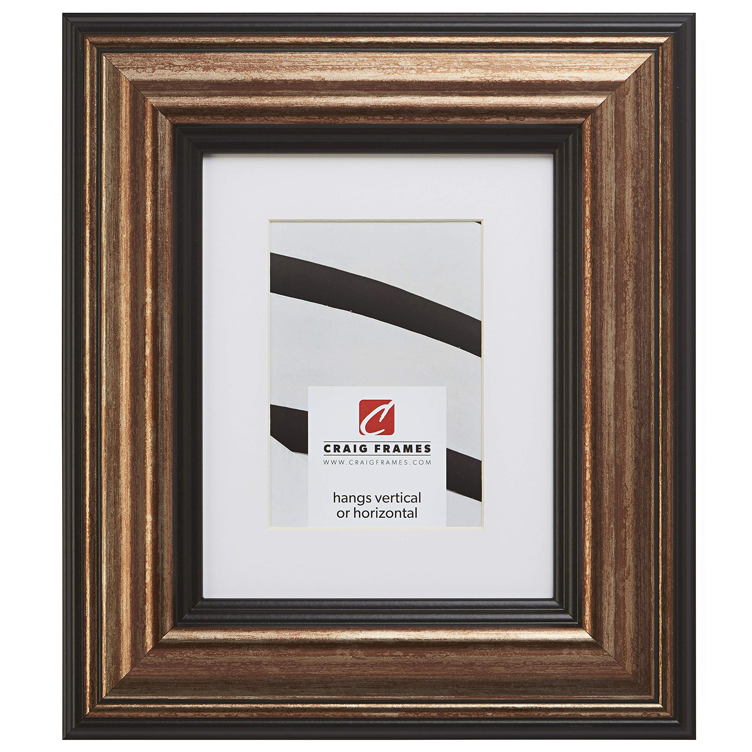 Craig Frames 21307201 24 x 36 Inch Aged Copper and Black Picture Frame Matted to Display a 20 x 30 Inch Photo