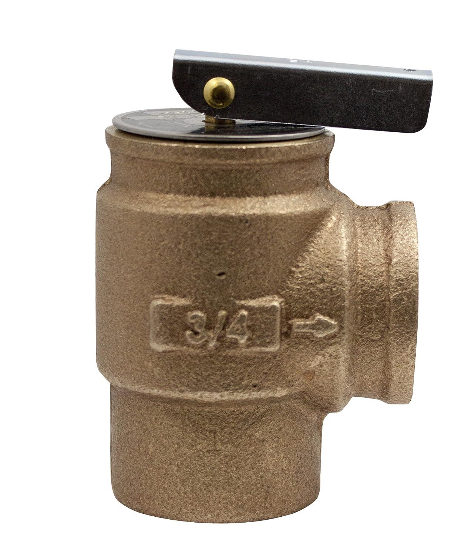 "Apollo Valve 10-400 Series Bronze Safety Relief Valve, ASME Hot Water, 30 psi Set Pressure, 3/4"" NPT Female"