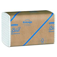 Scott Multifold Paper Towels (01840) with Fast-Drying Absorbency Pockets, White, 16 Packs / Case, 250 Multifold Towels / Pack