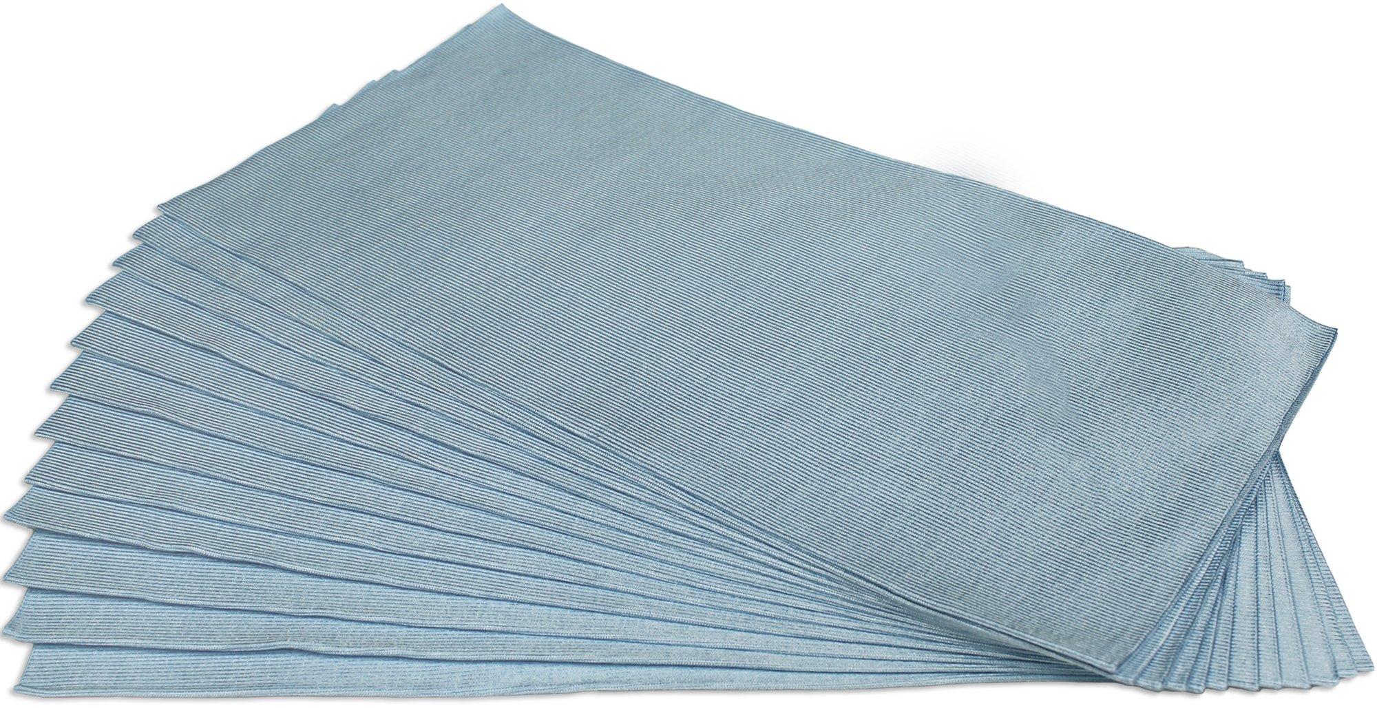CleanAide Ultrasonic Cut Glass Weave Microfiber Towel 16 in X 16 in - 12 Pack