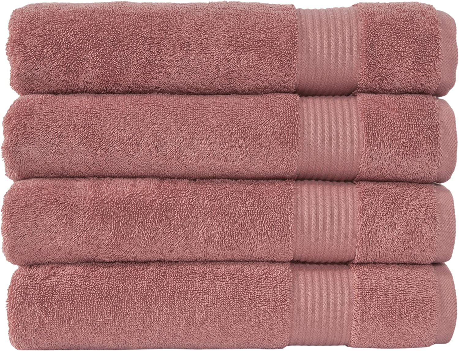 Classic Turkish Towels Luxury Bath Towels - Soft and Plush Hotel and Spa Quality 4 Piece Set Made with 100% Turkish Cotton (Canyon Clay)