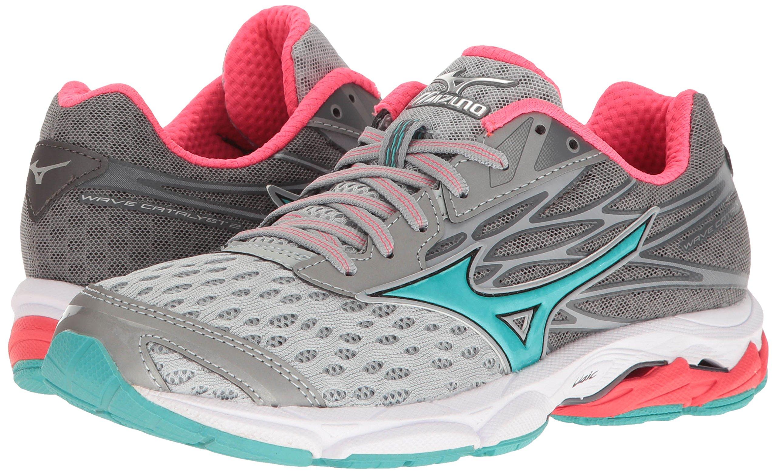 Mizuno Women's Wave Catalyst 2 Running Shoe, Grey/Mint, 9 B US by Mizuno (Image #6)
