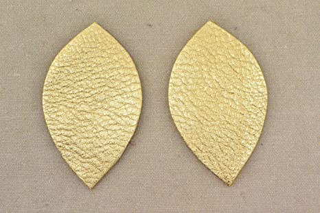 "Leather Earrings Leaf Large Die Cut 12pk 14K Rose Gold Metallic/""Vegas/"" DIY"