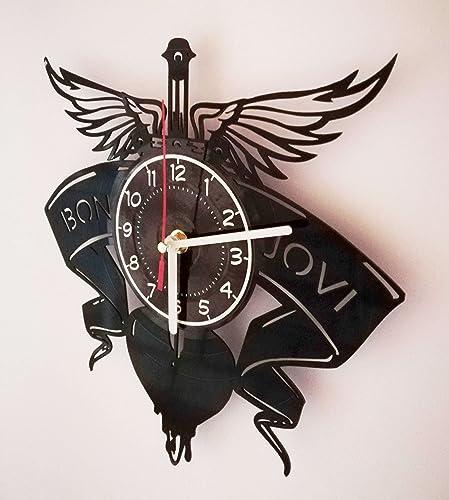 BON JOVI ROCK BAND Handmade Vinyl Record Wall Clock