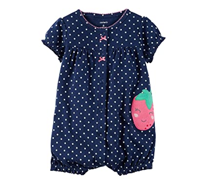 594540d8b Buy Carter Baby Girls Strawberry Snap Up Romper 12 Months Online at ...