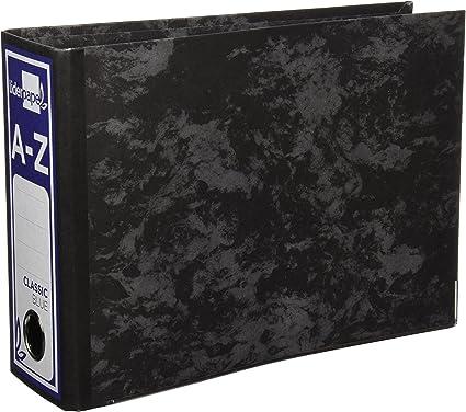 Archivador De Palanca Carton Forrado Cuarto Apaisado Jaspeado Negro Sin Caja Classic Azul: Amazon.es: Oficina y papelería
