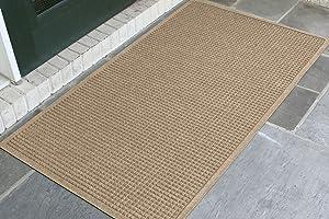 WaterHog Fashion Commercial-Grade Entrance Mat, Indoor/Outdoor Charcoal Floor Mat 5' Length x 3' Width, Camel by M+A Matting