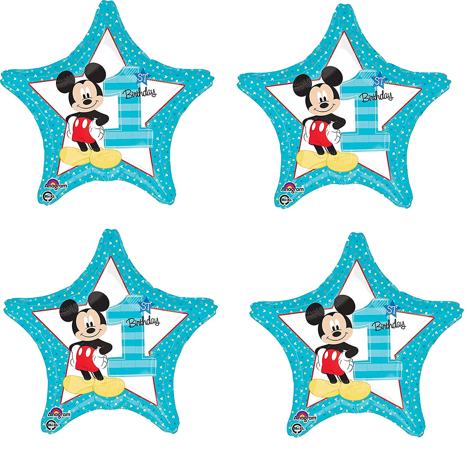"""Mickey Mouse 1st Birthday 18/"""" Balloon Birthday Party Decorations"""