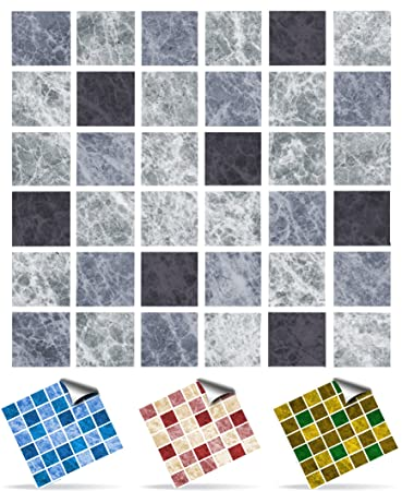 Tile Style Decals   Modell (30xTP 1   6u0026quot;  Slate Greys)  