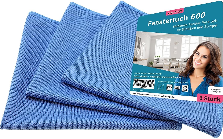 elauelue Fenstertuch 600 – Microfasertuch Fenster putzen – Feines ...