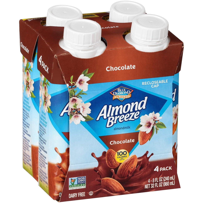 Almond Breeze Dairy Free Almondmilk, Chocolate Single Serve, 4 Count (Pack Of 6)