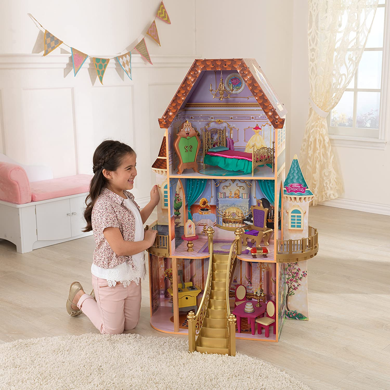 Furniture For Dollhouse Intended Kidkraft Belle Enchanted Dollhouse Furniture Amazon Canada