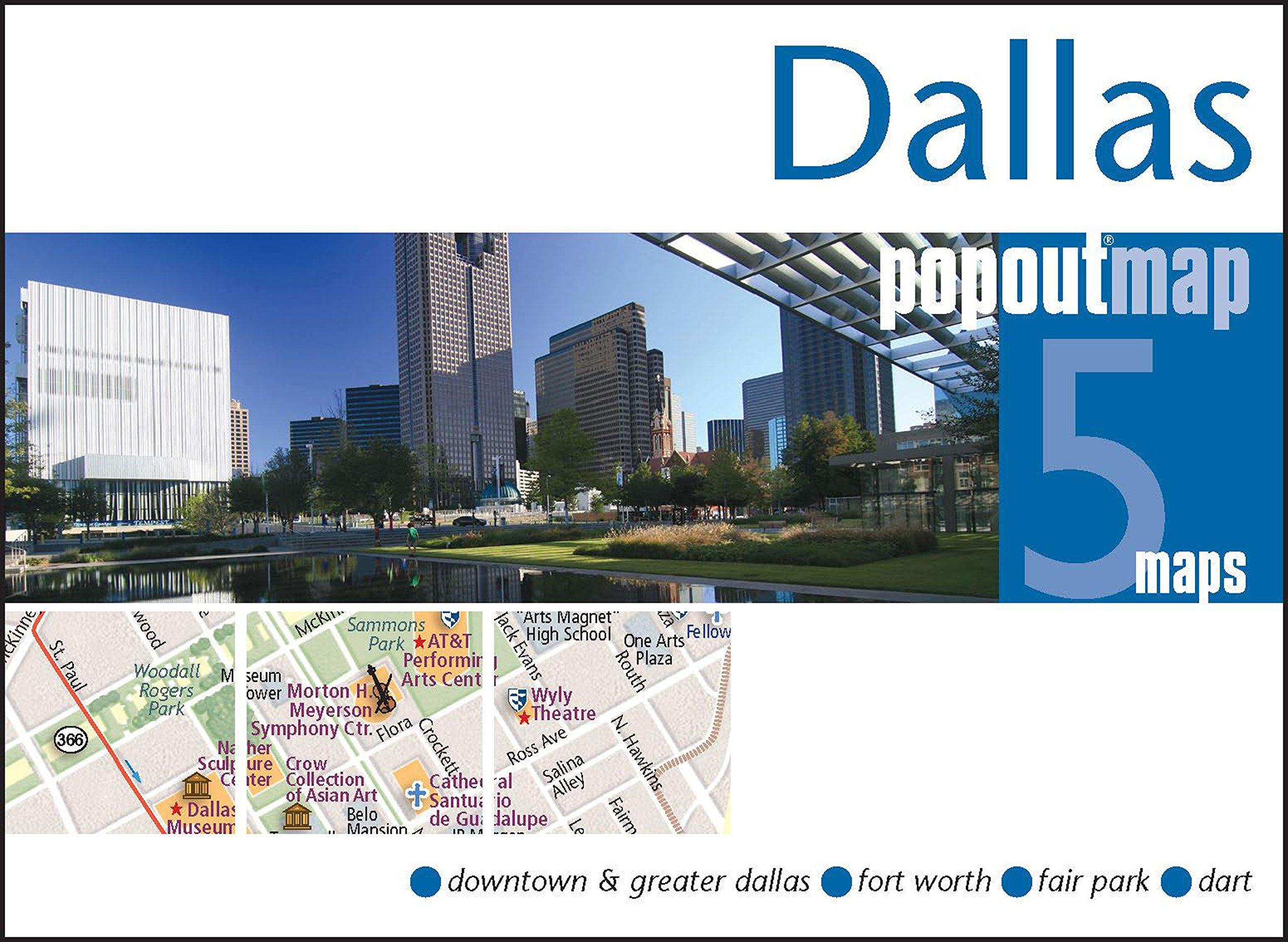 Greater Dallas Map.Dallas Popout Map Popout Maps Popout Maps 0711600301496 Amazon
