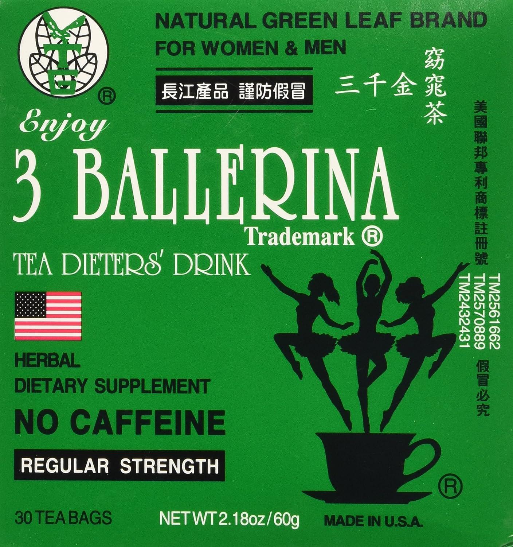 3 Pack de 3 bailarina dieta té para hombres y mujeres (3 cajas de ...
