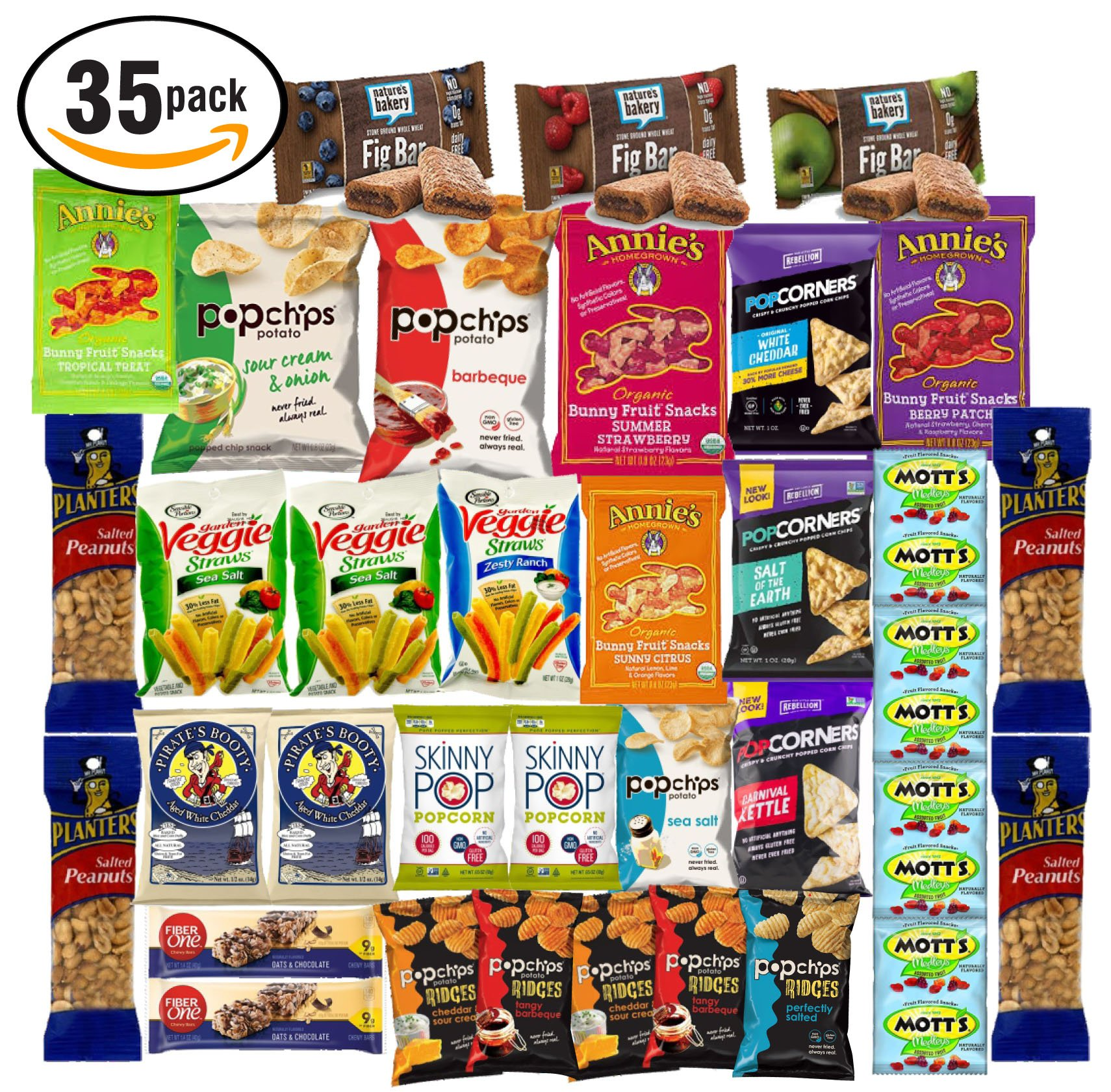 Healthy Snacks and Bars Variety Pack Gift Snack Box - Pack Assortment (Care Package 35 Count)
